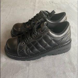 Sketchers Grunge Platform Buffalo Quilted Shoes 6